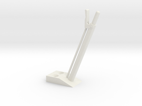quarter scale aec handbrake lever in White Strong & Flexible