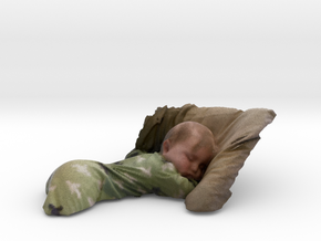 Sleeping Baby  in Full Color Sandstone