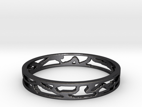 The Web Ring  Ring Size 7 in Polished Grey Steel