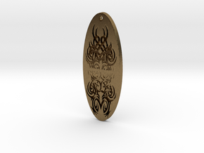 WhiteHawk Tribal Pendant 4 in Natural Bronze