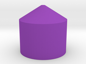 C3PO Chest Greeble HOLLOW in Purple Processed Versatile Plastic