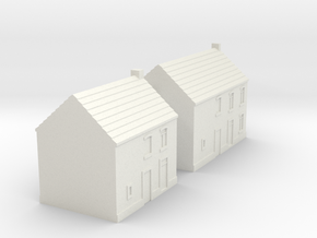 1/350 Village Houses 7 in White Natural Versatile Plastic