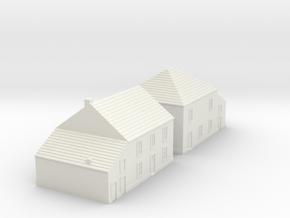 1/350 Village Houses 5 in White Natural Versatile Plastic