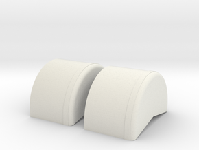 1/32nd 40 inch wheel tubs in White Natural Versatile Plastic