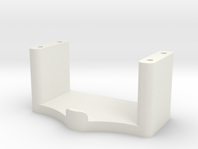Servo Mount (Losi Micro Stock Servo) in White Strong & Flexible