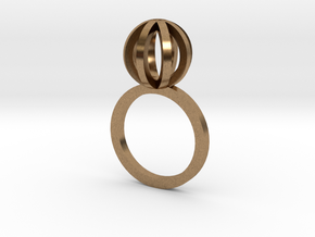 Sphere outlines ring in Natural Brass