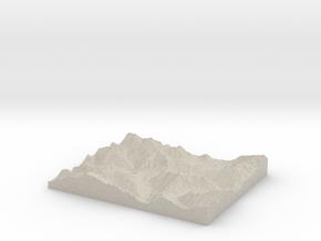 Model of Diablo in Natural Sandstone