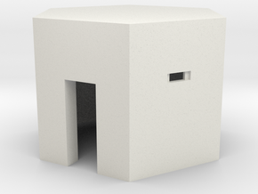 Type 22 Pillbox 4mm scale in White Natural Versatile Plastic