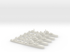 HMS Achates (A Class) 1/1800 x5 in White Natural Versatile Plastic