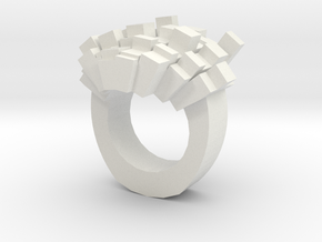 8bit-ring-hollow in White Natural Versatile Plastic