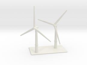 1/700 Wind Farm (x2 Turbines) in White Natural Versatile Plastic