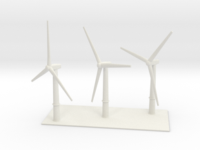 1/700 Wind Farm (x3 Turbines) in White Natural Versatile Plastic
