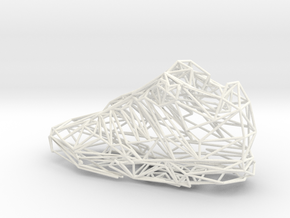 Shoe in White Processed Versatile Plastic
