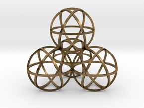 Sphere Tetrahedron in Natural Bronze