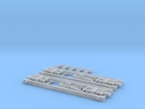 eubau Rollwagen RF4 mit Druckluftbremse in TTm (1 in Smooth Fine Detail Plastic