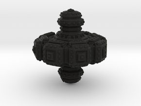 Fractal Spinning Top in Black Strong & Flexible