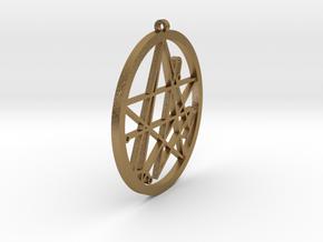 YogSogoth Hollow Pendant in Polished Gold Steel
