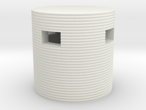 Type 25 Pillbox 4mm Scale in White Natural Versatile Plastic