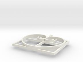 Fibonacci Heart - Pendant in White Natural Versatile Plastic