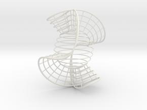 Nodal Cubic 3.5 inch in White Natural Versatile Plastic