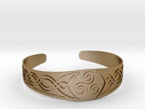 Bracelet Triskel in Polished Gold Steel