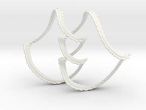 Legedrian Trefoil from a Front Diagram (Thicker)  in White Natural Versatile Plastic