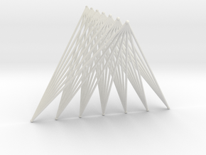 Tetrahedron = Join of Two Segments (10cm, 7bars@2m in White Natural Versatile Plastic