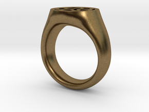 Ornament Ring in Natural Bronze