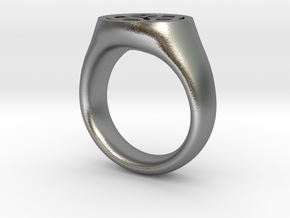 Ornament Ring in Natural Silver