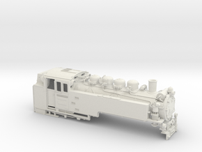 Schmalspurlok BR 99.73-76 Spur 0e (1:45) in White Natural Versatile Plastic