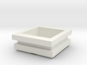 Pot Oriental Style in White Natural Versatile Plastic