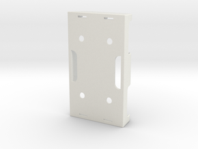 Battery Holder AA in White Natural Versatile Plastic