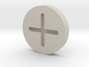 C3PO Hip Screw Cap V1 HOLLOW in Natural Sandstone