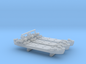 1/2400 US LST Mk2 (x3) in Smooth Fine Detail Plastic