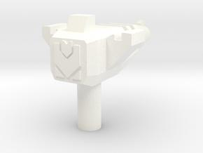 Hurricane Pistol (3mm Handle) in White Processed Versatile Plastic