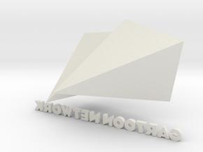 Cartoon Network Logo Now in White Natural Versatile Plastic