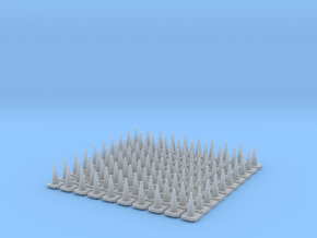N Scale Britsh Standard 750mm Traffic Cones in Smooth Fine Detail Plastic