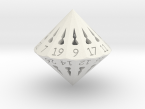 26 Sided Die - Large in White Natural Versatile Plastic
