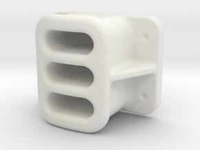 "15mm (1:20.3 / Fn3 / .590"") SCALE, BALDWIN,  LOCOM in White Natural Versatile Plastic"