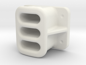 "1.50"" SCALE, BALDWIN, LOCOMOTIVE, PILOT, COUPLER P in White Natural Versatile Plastic"