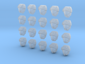 20 Scale Mail Helmets in Smooth Fine Detail Plastic