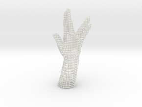 LIVE LONG AND PROSPER HAND in White Natural Versatile Plastic