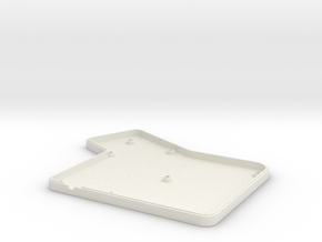 ErgoDox Bottom Left Case (flat) in White Natural Versatile Plastic