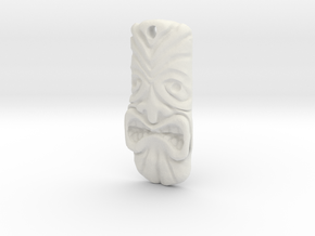 TikiPendant7 in White Natural Versatile Plastic