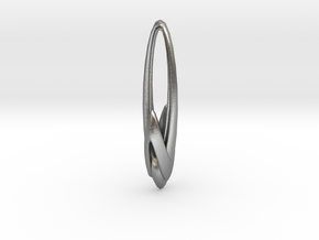 Arching Earring in Natural Silver