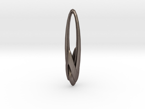 Arching Earring in Polished Bronzed Silver Steel