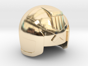 Judge Helmet in 14K Yellow Gold