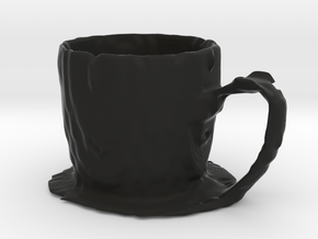 Coffee mug #7 - Melted in Black Natural Versatile Plastic