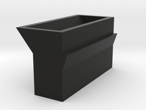 Mortar box for Gilpin County style stamp mill in Black Natural Versatile Plastic