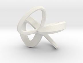 1 Inch Solid Mobius in White Strong & Flexible